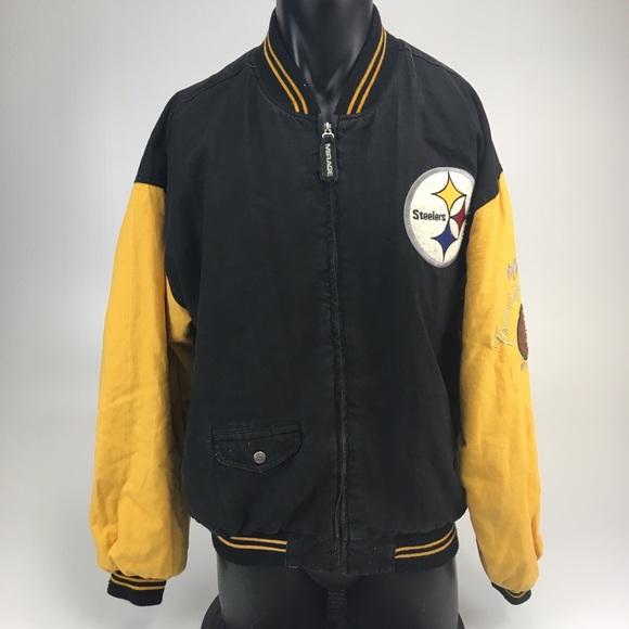 size 40 3cfa7 bf478 VTG Pittsburgh Steelers Mirage Coat